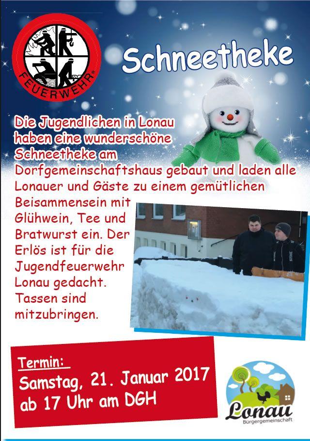 Schneetheke in Lonau Plakat