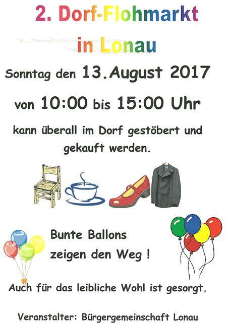 Plakat Flohmarkt Lonau 2017