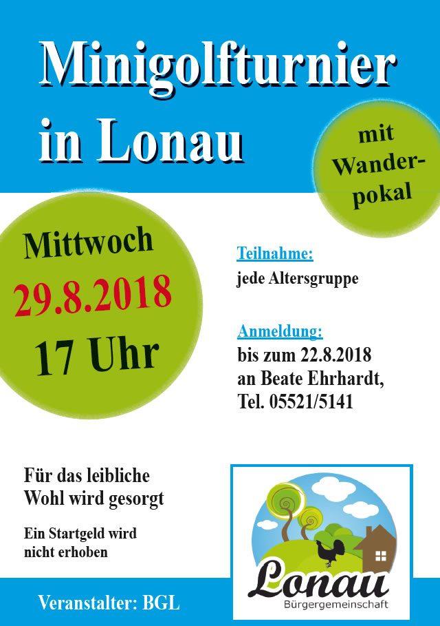 Minigolfturnier in Lonau