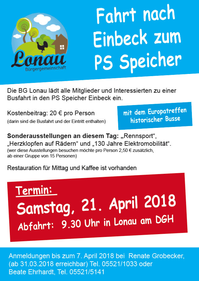 BGL PS-Speicher Plakat